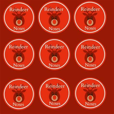 printable reindeer name tags reindeer noses