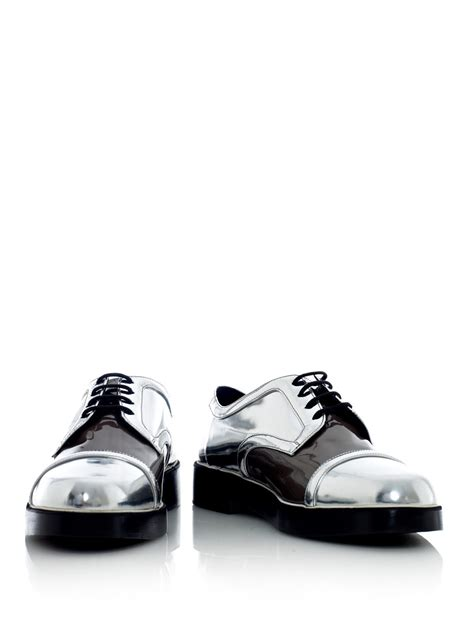metallic oxford shoes nicholas kirkwood metallic oxford shoes in metallic for