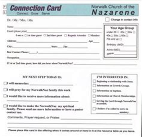 free church connection card template connection card free dowload church prayer connection