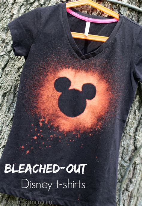 bleach pattern on t shirt bleached out disney t shirts for the not so crafty crafter