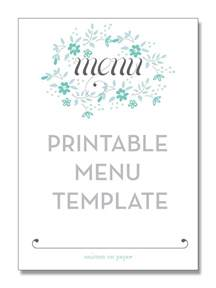 blank dinner menu template freebie friday printable menu smitten on paper