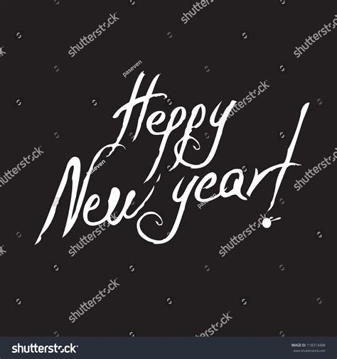 writing about new year writing happy new year stock vector 118313488