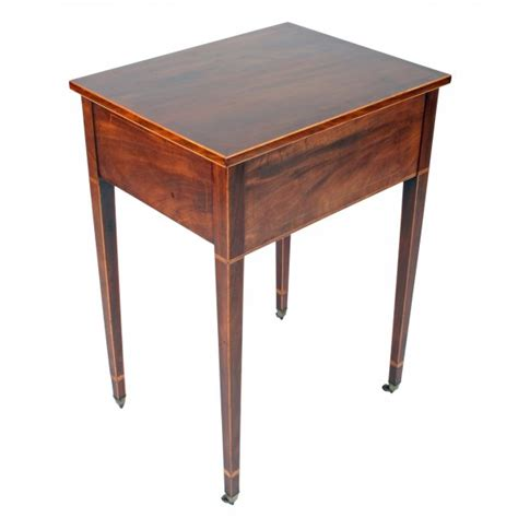 Two Drawer Side Table by Antique Side Table Georgian Two Drawer Side Table