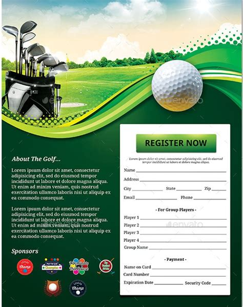 Gallery Free Golf Templates For Word Gallery Pinkturban Info Free Golf Brochure Templates