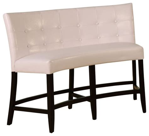 white banquette bench modus bossa counter height leatherette banquette white