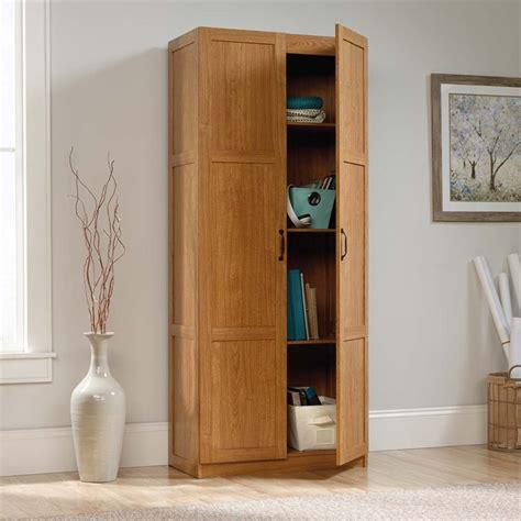 sauder select storage cabinet in white sauder select storage cabinet in highland oak 419188