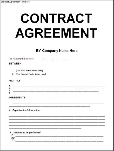 business contract template word contract template business contract template all form