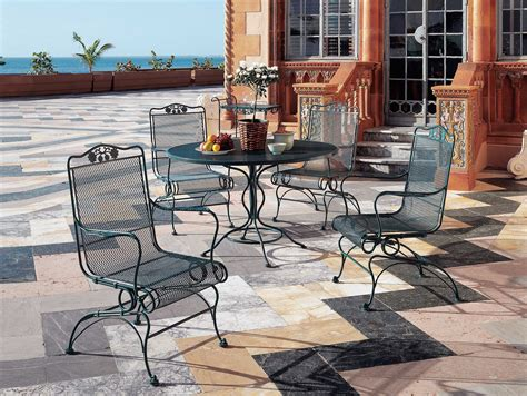 Iron Patio Dining Set - woodard briarwood wrought iron dining set gblds