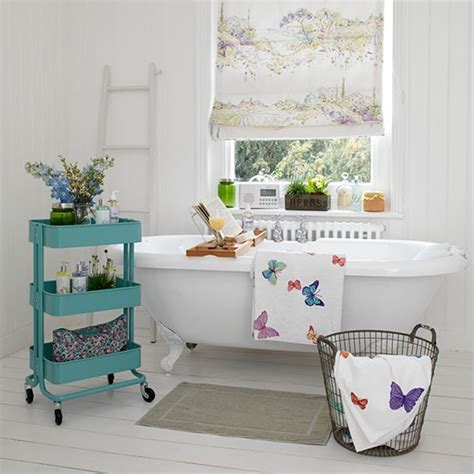 cool bathroom trolley country storage ideas