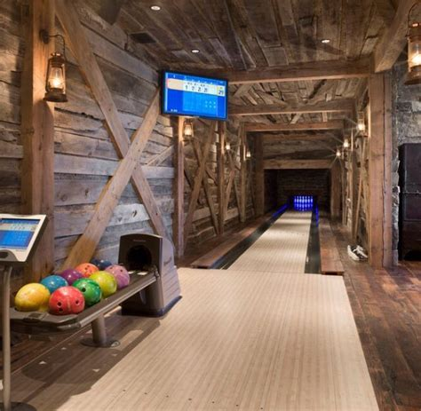rustic interiors home bowling alley home bowling