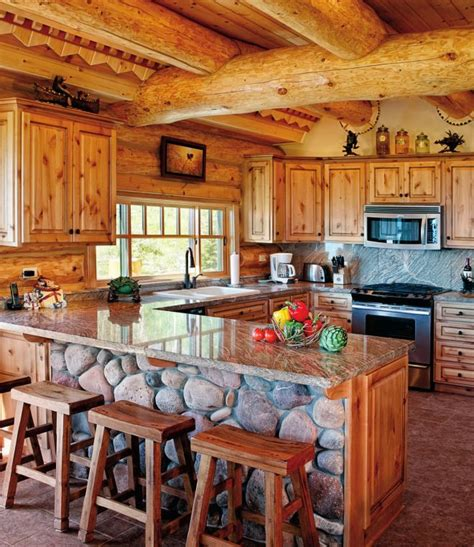 How To Decorate A Log Cabin Home by 25 Best Ideas About Log Home Kitchens On Log