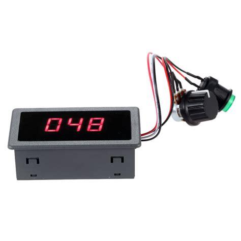 pwm led chaser with variable speed control digital display led 6v 12v 24v pwm dc motor controller