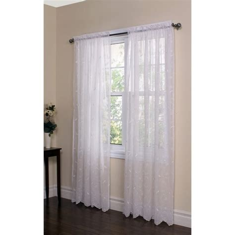 commonwealth curtains commonwealth hathaway 63 quot rod pocket curtain panel in