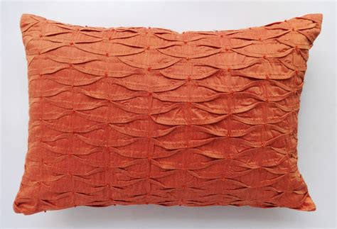 Orange Pillows by Burnt Orange Pillow Cover With Orange Orange Decorative