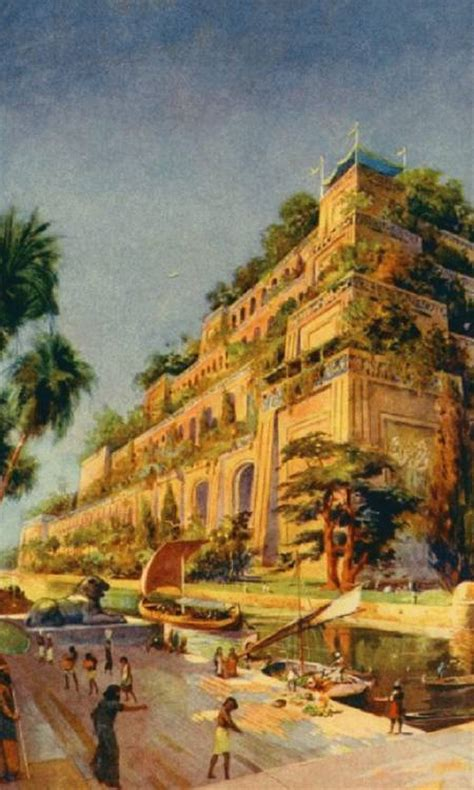 Gardens Of The Ancients by The Hanging Gardens Of Babylon Ancientworldwonders