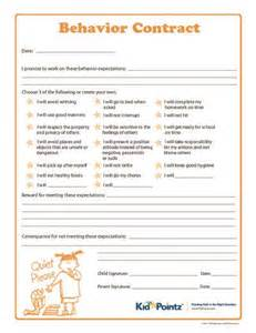 children s contract template behaviour contract for from an amazingly helpful