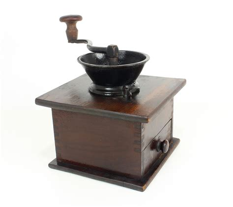 Coffee Grinder Dark Wood Black