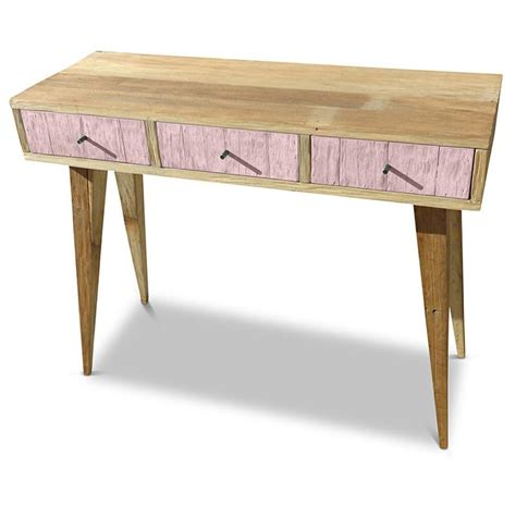 blush pink desk l console dressing table buy wooden desk in pink white