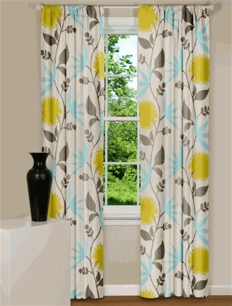 gray yellow teal curtains spare time remodeling drool
