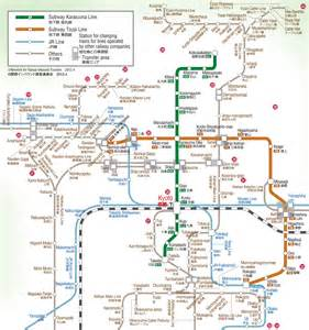 Kyoto Subway Map by Japan Railways Train And Subway Maps Nihone