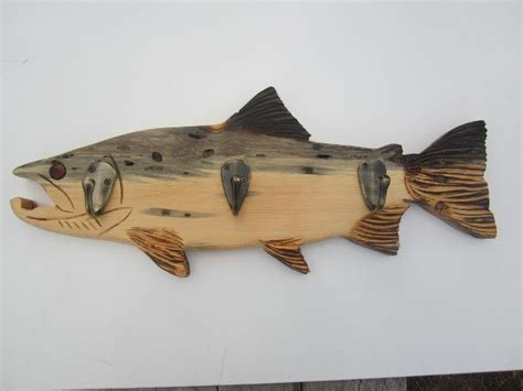 wood fish coat rack 59 99 via etsy wood some