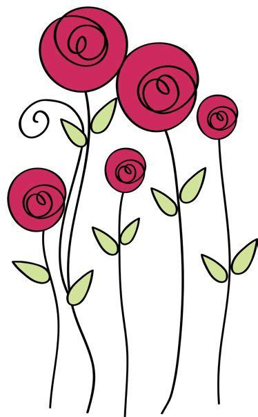 imagenes flores simples pin de manualidades maria d dagatti en simples pinterest