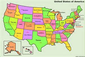 Us Map With States And Capitals by Usa States And Capitals Map