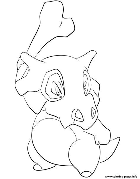 pokemon coloring pages of cubone 104 cubone pokemon coloring pages printable