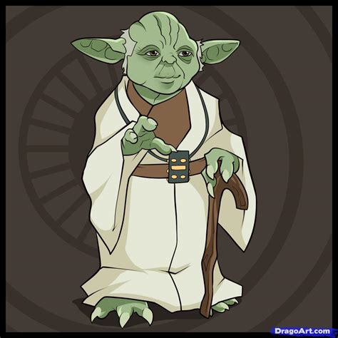 Drawing Yoda by How To Draw Yoda Step By Step Wars Characters Draw