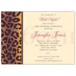 birthday invitation wording for 60th cheetah 60th birthday invitations paperstyle