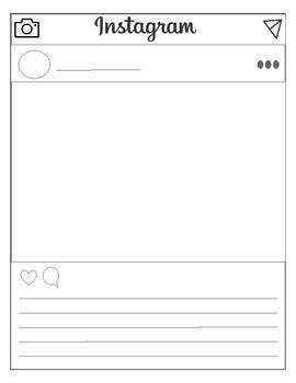 Instagram Template Editable Version Included By Srta Spanish Tpt Instagram Template For Students