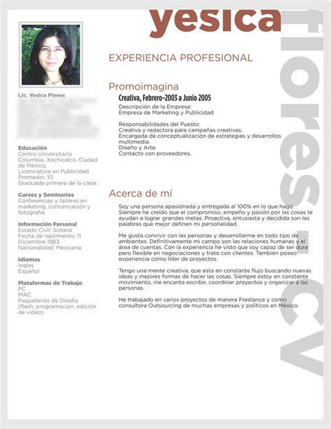 Como Hacer Un Curriculum Vitae Profesional Modelo C 243 Mo Hacer Un Curriculum Vitae El De Yes