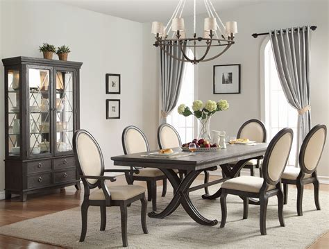 Walnut Dining Room Sets Lindley Walnut Veneers Extendable Dining Room Set From Homelegance Coleman Furniture