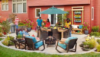 Slab to Fab Patio Makeover
