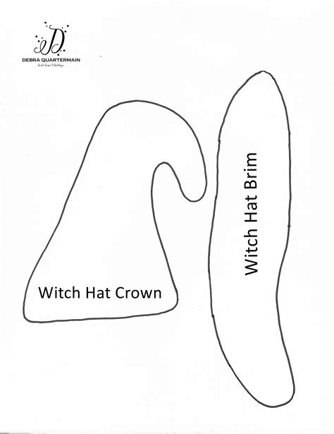 paper witch hat template printable witch hat sewing patterns patterns kid