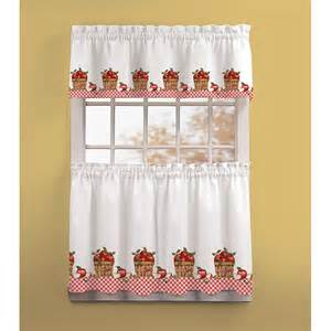 red apple kitchen curtains chf industries apple picking kitchen curtain set red at