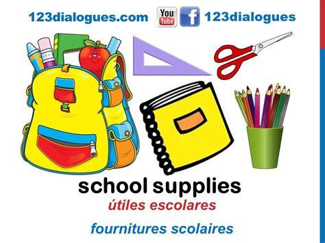 imagenes de utiles escolares de abraham mateo curso de ingl 233 s 62 218 tiles escolares en ingl 233 s material