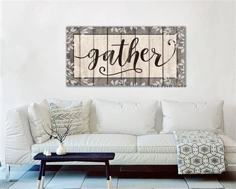 large gather sign dining room sign wall decor modern