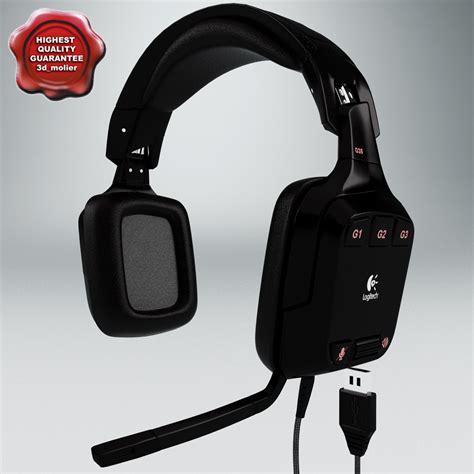Headset Logitech G35 headphones logitech g35 3d model