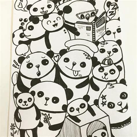 doodle panda panda pencil sketch on instagram