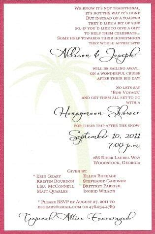 Honeymoon Shower Invitations by Honeymoon Shower Invite Liking The Wording This Is A