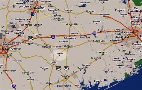 yoakum texas map yoakum tx