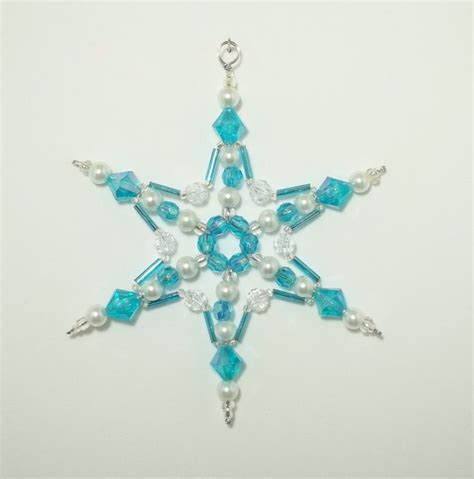 beaded snowflake ornament best 25 beaded snowflake ideas on snowflake