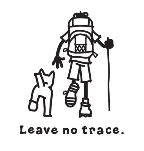 free coloring pages of leave no trace