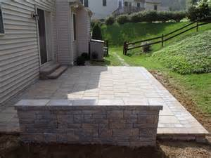 techo bloc patio walls and steps