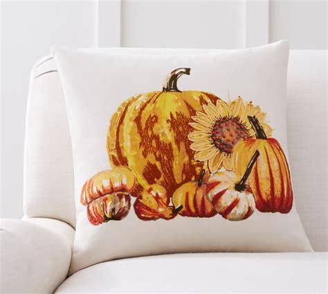 Pottery Barn Pumpkin Pillow by Pumpkin Sunflower Pillow Cover Pottery Barn