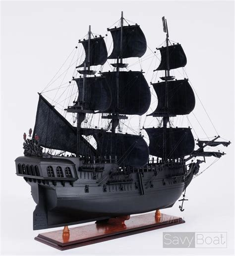 Black Pearl Handmade Wood Pirate - black pearl pirate ship handcrafted wooden model ship