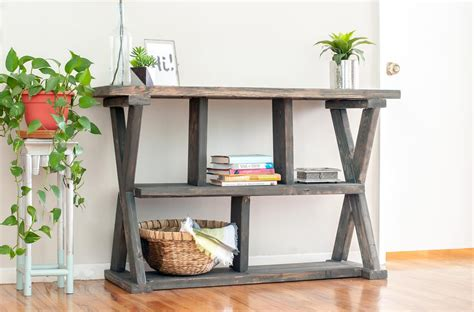 console table with shelves x leg console table with shelves buildsomething