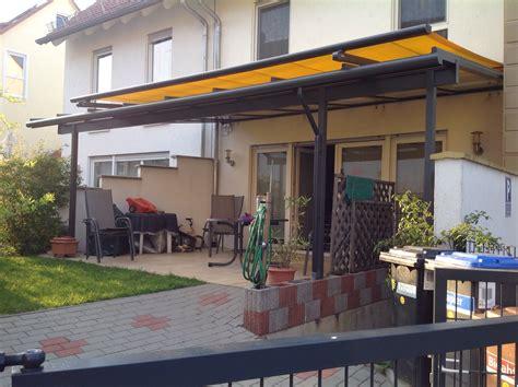 Sonnensegel Unter Terrassenüberdachung by Terrassen 252 Berdachung Mit Montage Eine 5 X 4 50m Holz