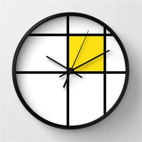 unusual wall clocks mondrian 2 yellow wall clock unique wall clocks 10